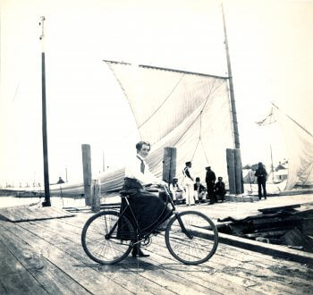 Biking on Nantucket.