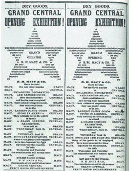 Early Macys Advertisement