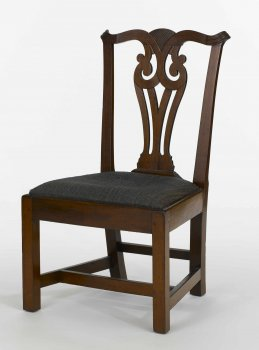 Chippendale splat back side chair