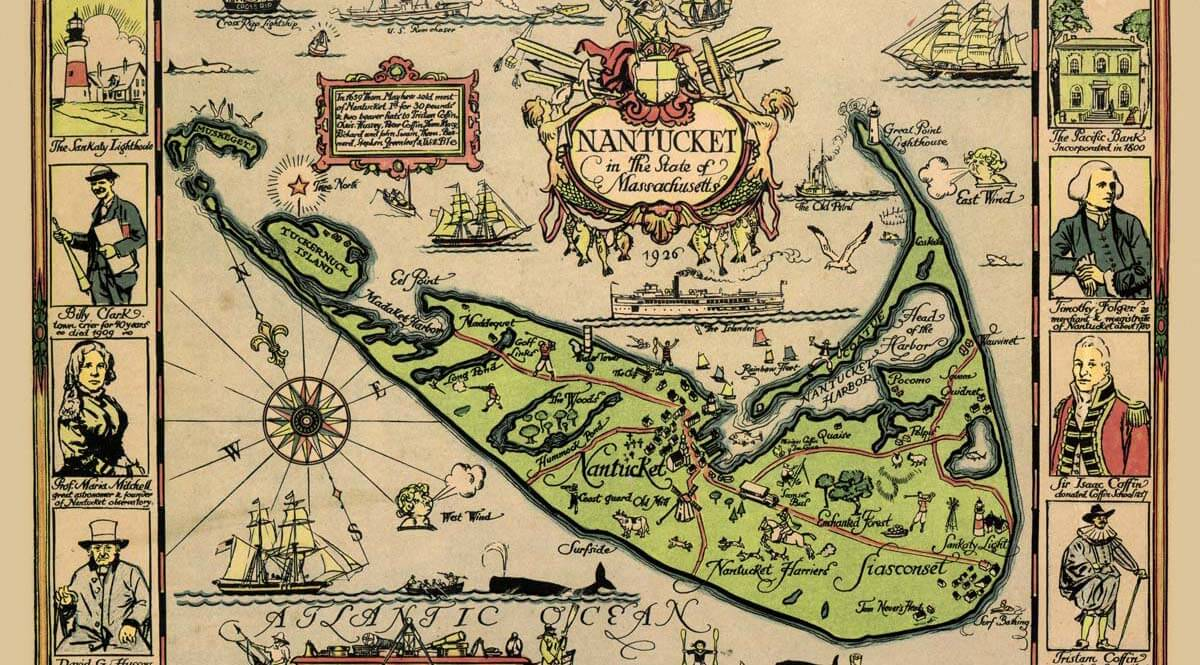 Map of Nantucket, by Tony Sarg