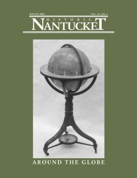 Cover of Historic Nantucket feturing a globe on a stand.