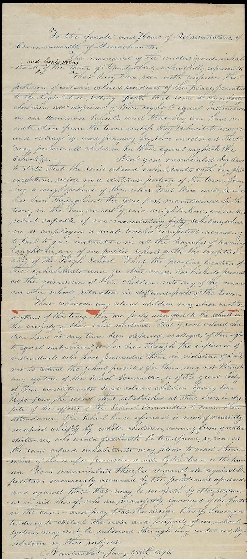 Hand written petition