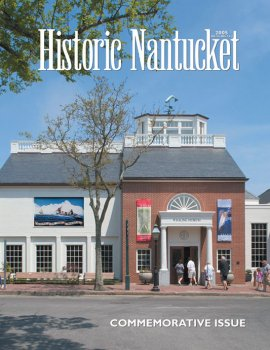 Cover of Historic Nantucket feturing the entrance to the Whaling Museum.