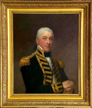 Early 19th century painting of an admiral.