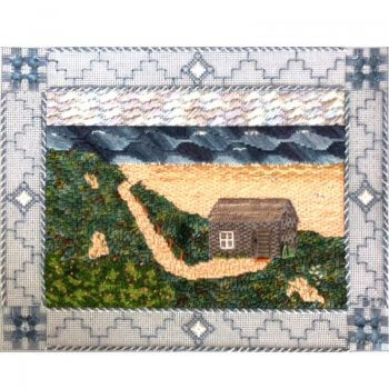 1800 House Edith Bouriez Nantucket Beach Shack Needlepoint