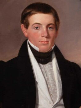 19th century portrait of man in formal wear.