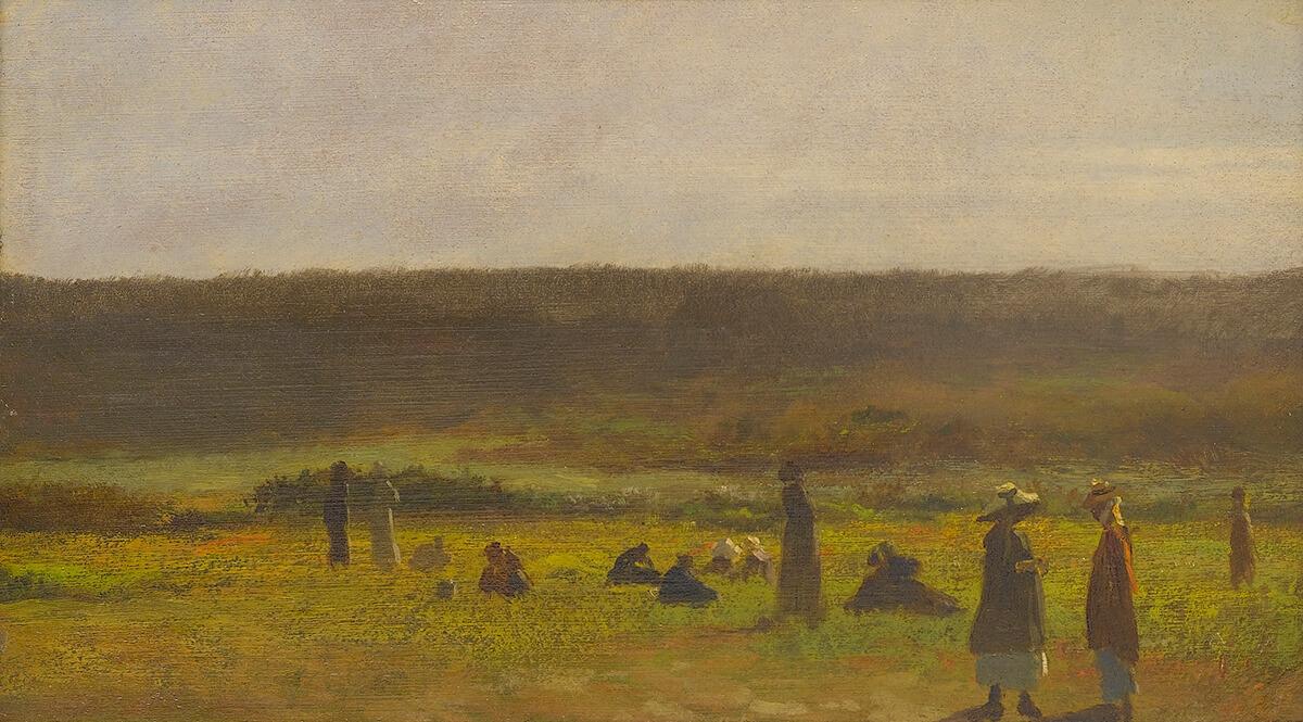In the Fields by J. Eastman Johnson