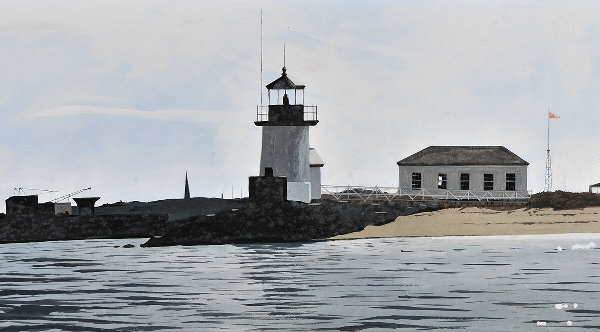 """Brant Point from Channel"" by John Austin"