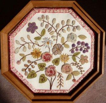 1800 House Edith Bouriez Crewel Valentine