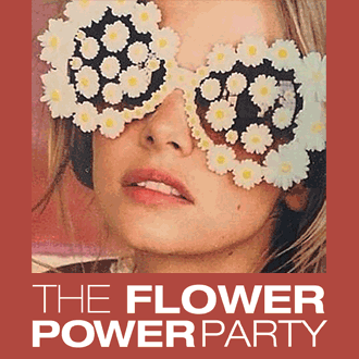 Flower Power Party Logo.
