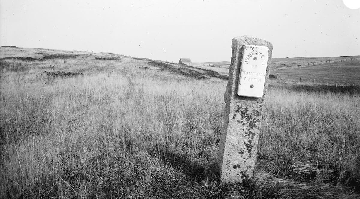 Tristram Coffin Homestead Site Marker, 1880s