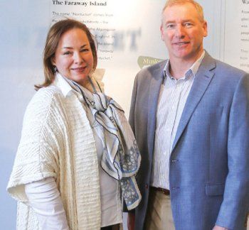 Kelly Williams, NHA Board President and James Russell, Gosnell Executive Director