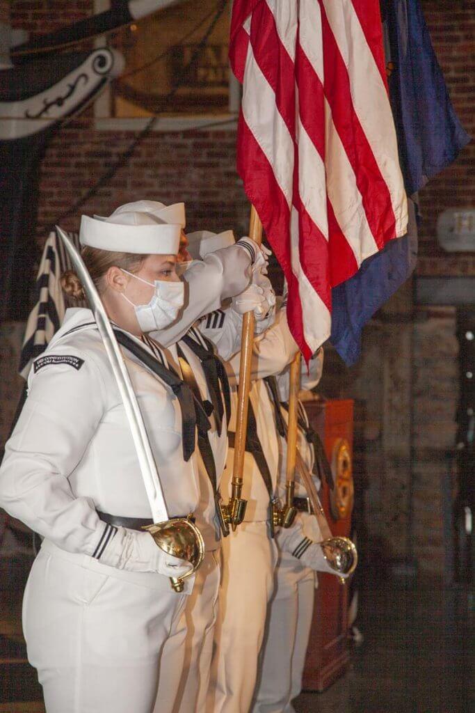 Navy color guard