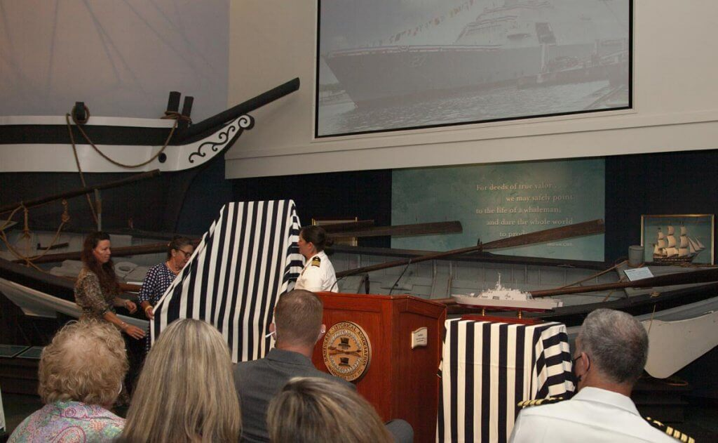 Unveiling of the USS Nantucket Official Crest