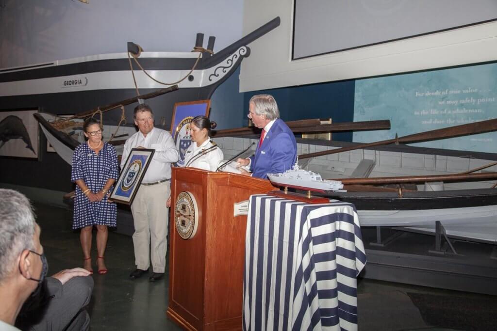 USS Nantucket Official Crest presentation