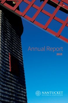 Cover of the 2015 Annual reoprt with image of the old mill.