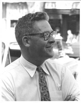 Walter Beinecke Jr, Man with glasses shirt and tie.