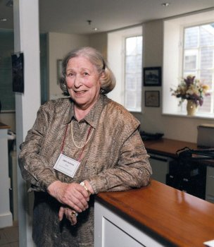 Elizabeth Oldham, at the dedication of the NHA Research Library, April 2001