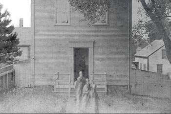 Quaker Meeting House, one of the last meetings in May 1887.