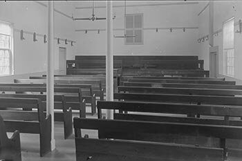 Quaker Meeting House after restoration in 1905.