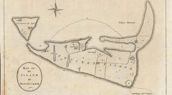 Map of Nantucket, 1772, drawn by Dr. James Taylor