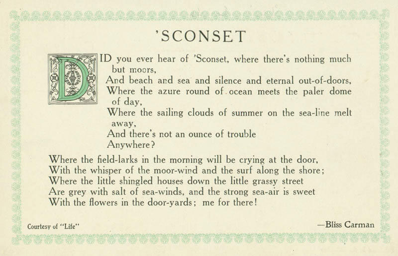Sconset Postcard 1
