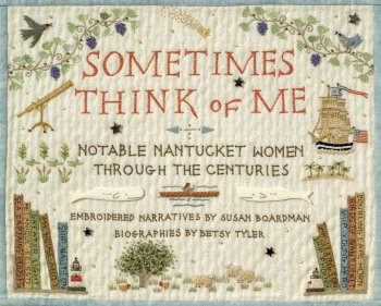 "Image of embrodery ""Sometimes Think of Me"""