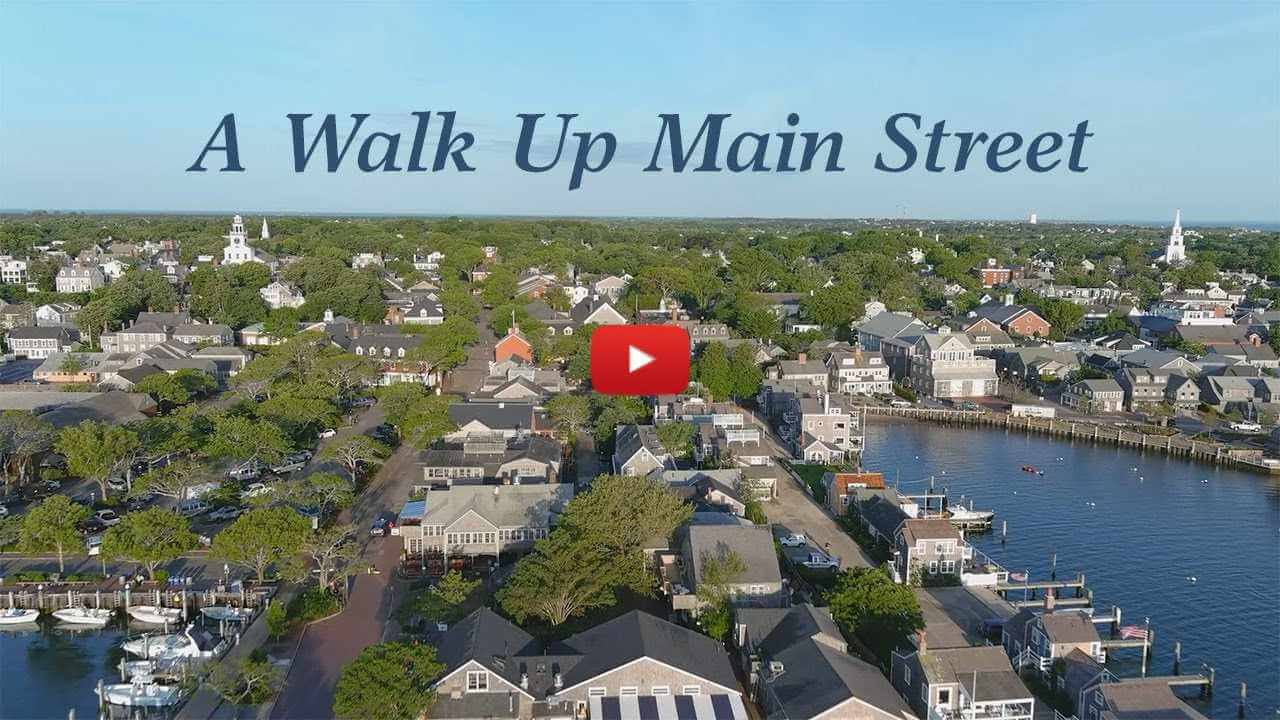 Aerial view of Nantucket Town