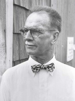 Man with glasses and bow tie.