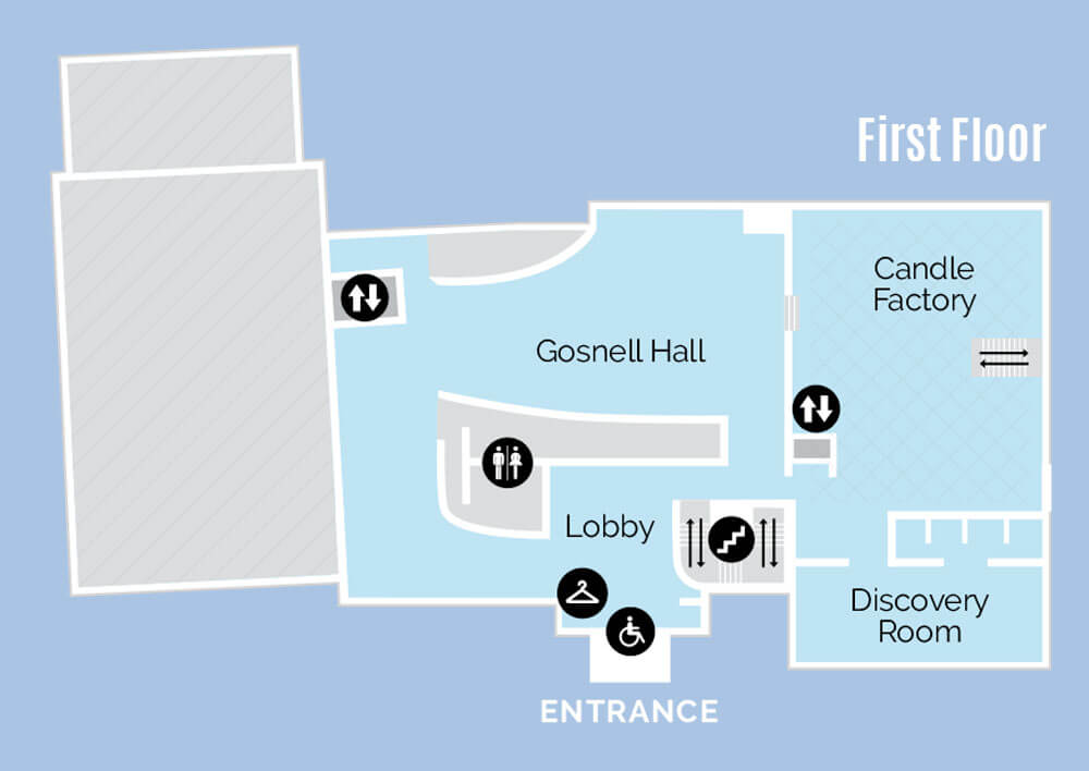 Whaling Museum 1st Floor Map.
